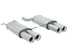 Ragazzon Duplex-Endschalldämpfer je 2x90 mm rund