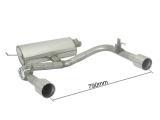 Ragazzon Duplex-Endschalldämpfer je 102 mm