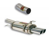 Supersprint Endschalldämpfer 2x80mm inklusive Verbindungsrohr