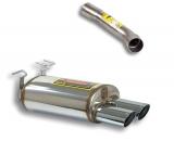Supersprint Endschalldämpfer 100x75mm oval inkl. Verbindungsrohr