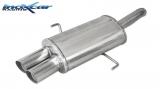 Inoxcar Endschalldämpfer 2x76mm Racing