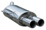 Inoxcar Endschalldämpfer 2x80mm