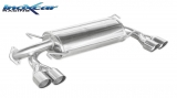 Inoxcar Duplex-Endschalldämpfer 2x80mm Racing