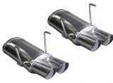 Inoxcar Duplex-Endschalldämpfer 2x76mm Racing
