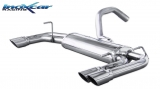 Inoxcar Duplex-Endschalldämpfer 2x60mm Racing