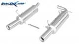 Inoxcar Endschalldämpfer 2x80mm (mittig)