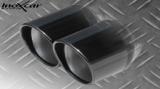Inoxcar Endschalldämpfer 2x80mm Black Chrome