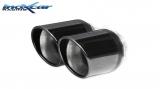 Inoxcar Duplex-Endschalldämpfer 2x80mm Black Chrome
