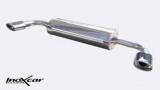 Inoxcar Duplex-Endschalldämpfer 120x80mm Oblique