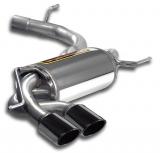 Supersprint Endschalldämpfer Power loop design 90x70mm Black