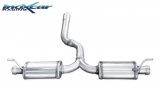 Inoxcar Duplex-Endschalldämpfer (für original)