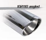 Inoxcar Duplex-Endschalldämpfer 102mm Angled