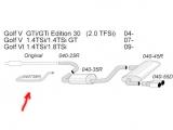 Simons Racingrohr Audi A3/Golf V/VI (ohne Zulassung)