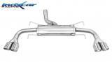 Inoxcar Duplex-Endschalldämpfer 2x80mm Angled