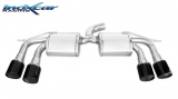 Inoxcar Duplex-Endschalldämpfer je 2x80mm Black Chrome