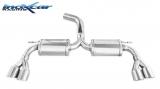 Inoxcar Duplex-Endschalldämpfer 2x70mm Racing