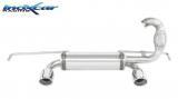 Inoxcar Duplex-Endschalldämpfer 90mm Angled