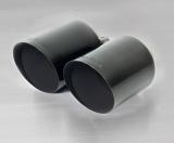 Remus Endrohr-Set 2x115mm schräg Black Chrome