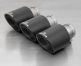 Remus Endrohr-Set mit 3 Endrohren Ø 102 mm Carbon schräg