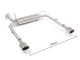 Ragazzon Duplex-Endschalldämpfer je 115x70 mm oval