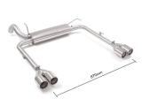 Ragazzon Duplex-Endschalldämpfer je 2x80 mm