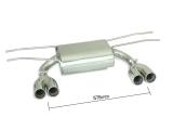 Ragazzon Duplex-Endschalldämpfer je 2x70 mm versetzt