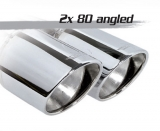 Inoxcar Endschalldämpfer 2x90mm Angled (mittig)