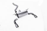 Milltek Duplex-Endschalldämpfer je 90mm GT Titanium