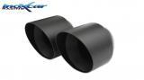 Inoxcar Endschalldämpfer mittig 2x102mm Black Chrome